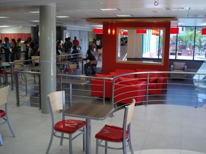 Sky Mall Food Court Hand Rails