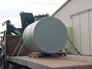 Steel Tank with Fibre Glass Containment